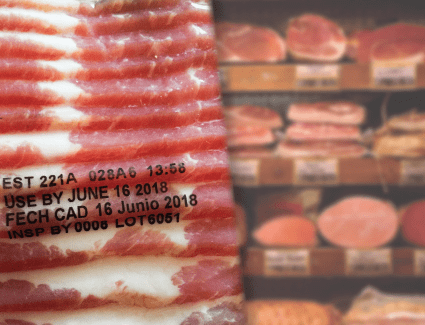 Moisture-Resistant Thermal Transfer Overprinting Sample on Cold Flexible Plastic Film Packaging for Meat